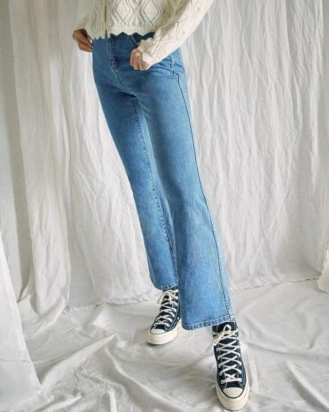 Синий женские джинсы с высокой талией camille rowe livin'