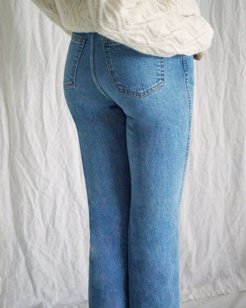 Жен./Одежда/Джинсы и брюки/Джинсы широкие и расклешенные Женские джинсы с высокой талией Camille Rowe Livin'