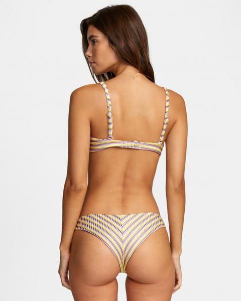 Бежевые женские мини-плавки stripe out cheeky
