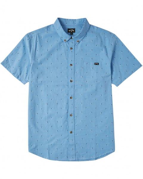 Муж./Одежда/Рубашки/Рубашки с коротким рукавом Мужская рубашка с коротким рукавом All Day Jacquard