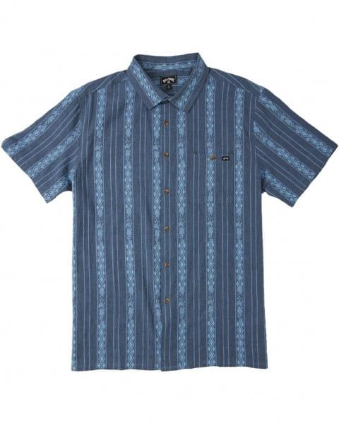 Муж./Одежда/Рубашки/Рубашки с коротким рукавом Мужская рубашка с коротким рукавом Sundays Jacquard