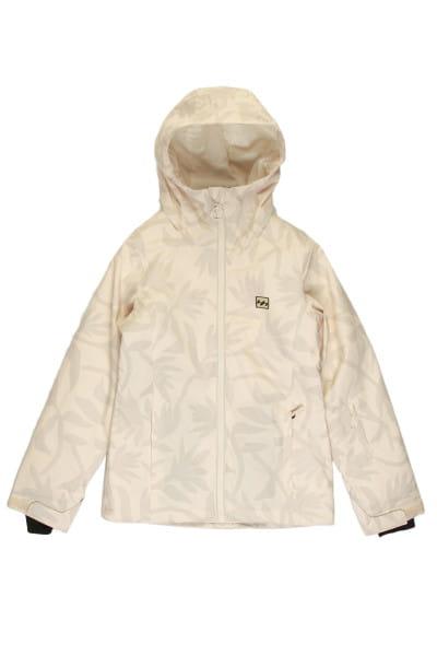 Белый женская сноубордчиеская куртка sula