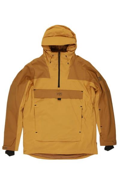 Желтый мужская сноубордчиеская куртка quest