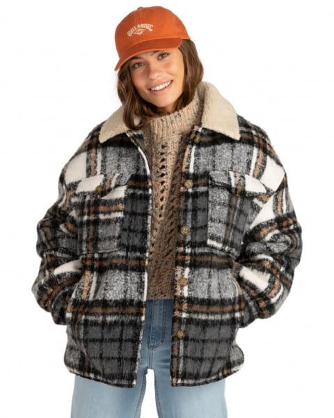 Серый женская водостойкая куртка lucky