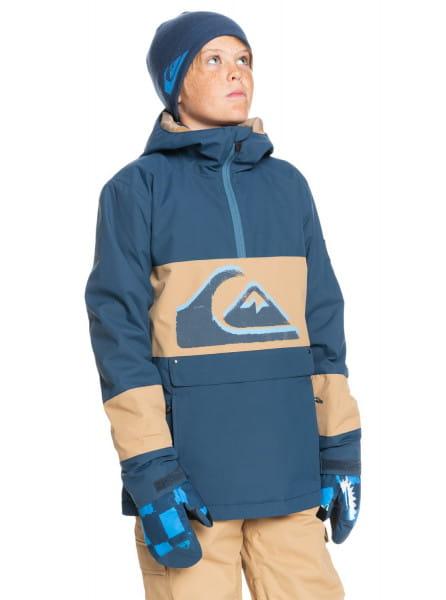 Коричневый детская сноубордическая куртка steeze