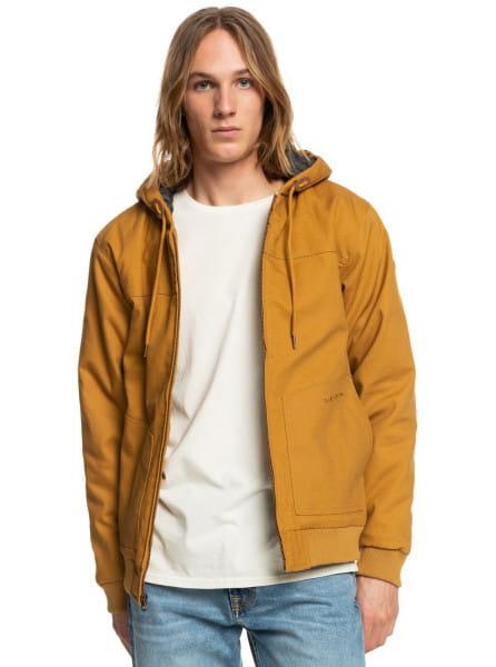Коричневый водостойкая куртка brooks