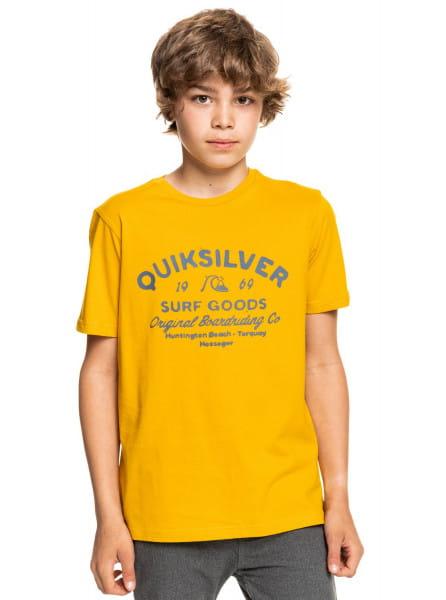 Желтый детская футболка closed tions