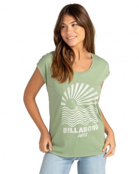 Бирюзовый женская футболка solo sol