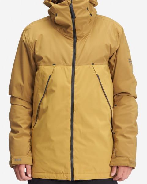 Желтый мужская сноубордчиеская куртка expedition