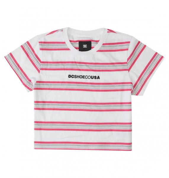 Розовый укороченная футболка effortless stripe