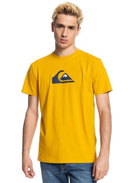Желтый футболка comp logo