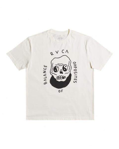 Белый мужская футболка benjamin jeanjean benj skull