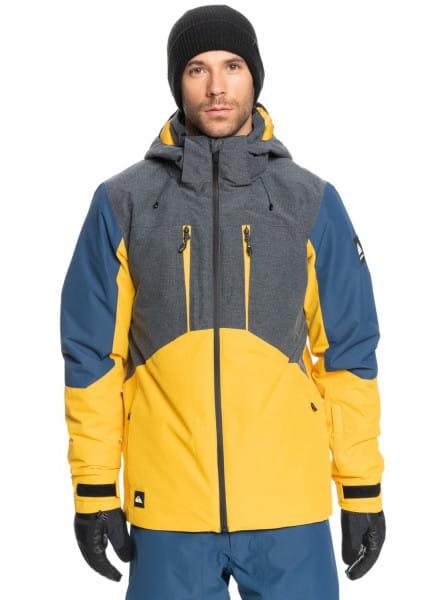 Синий сноубордическая куртка mission plus