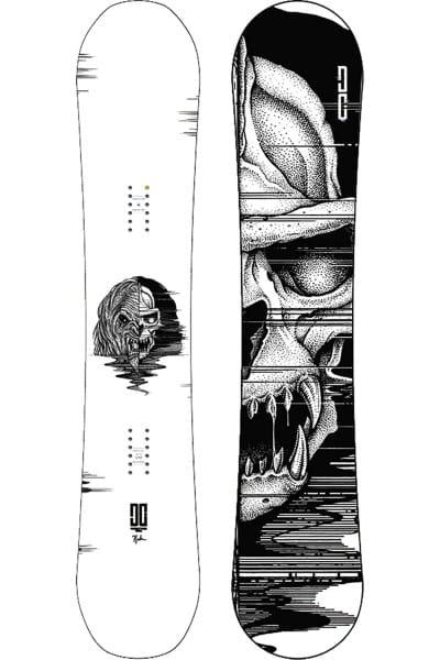 Белый сноуборд ply