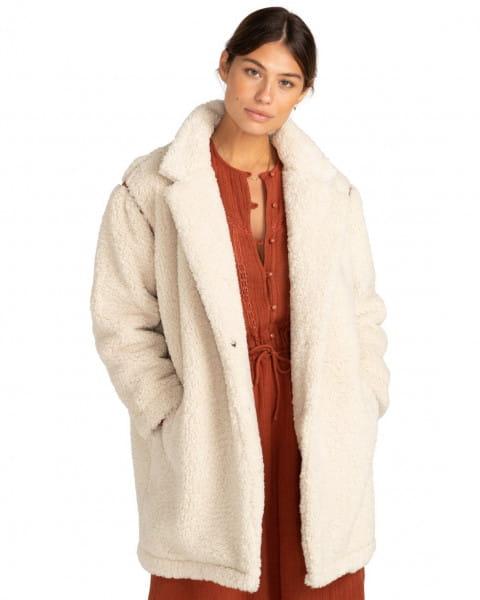 Бежевое женское пальто sweet escape