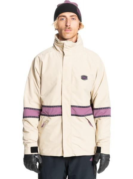 Бежевый сноубордическая куртка live wire