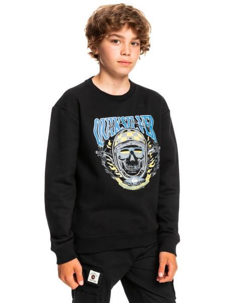 Черный детский свитшот bike skulls