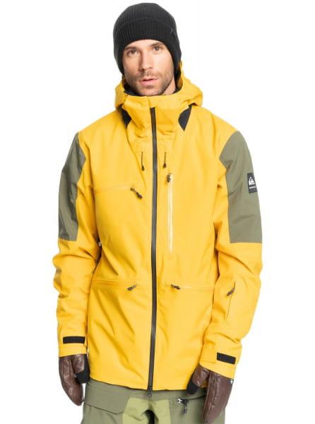 Желтый сноубордическая куртка travis rice stretch