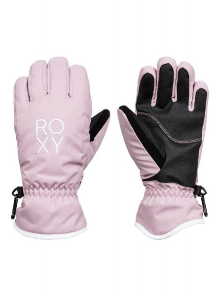 Розовые детские сноубордические перчатки fresh fields