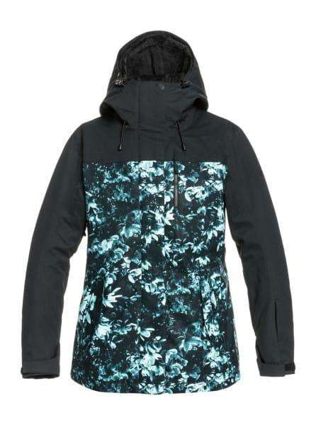 Зеленый сноубордическая куртка roxy jetty 3-in-1