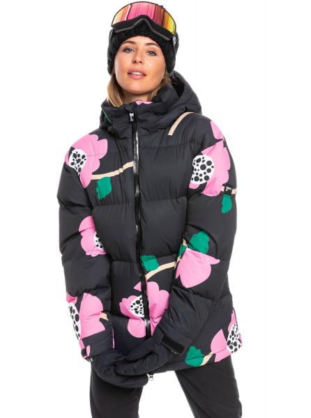 Зеленый сноубордическая куртка rowley x roxy