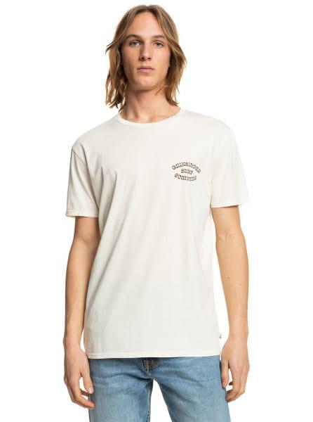 Белый футболка wild card
