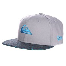 Бейсболка New Era Quiksilver Scallop NewEra Grey/Blue