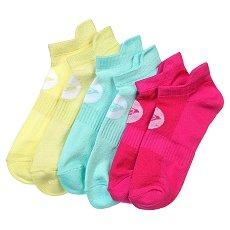 Носки низкие женские Roxy 3pk Marled Sole Lc Multi