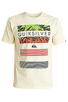 Футболка Quiksilver Classic Tee Linup Tees Transparent Yellow