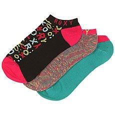 Носки низкие женские Roxy Pop Logo 3 Pk. Multi