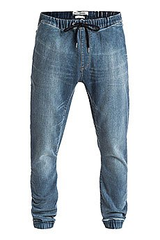 Джинсы прямые Quiksilver Fonic Denim Fleec Pant Worn Wash