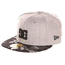 Бейсболка с прямым козырьком DC Empire Print Hats Heather Grey