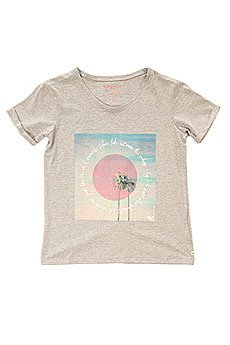 Футболка детская Roxy Rollydollypalms Tees Heritage Heather