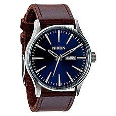 Кварцевые часы Nixon Sentry Leather Blue/Brown