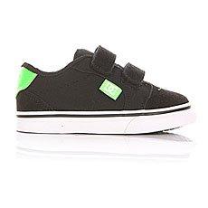 Кеды низкие детские DC Anvil V Black/White/Green