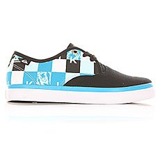 Кеды низкие детские Quiksilver Shore Break Delux Black/Blue/White