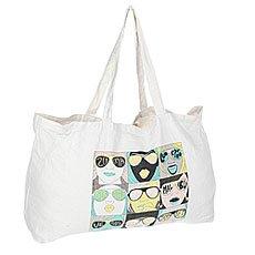 Сумка Quiksilver Check Tote Bag Snow White