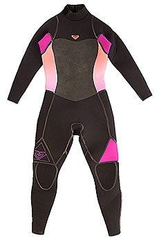 Гидрокостюм (Комбинезон) женский Roxy 5/4/3mm Syncl Fsbz Black/Violet/Coral