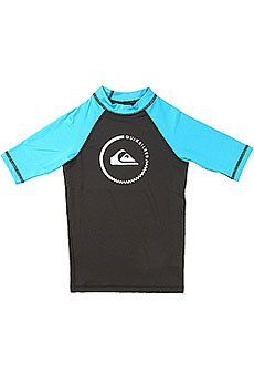 Гидрофутболка детская Quiksilver Lock Up Boy Ss Black/Hawaiian Ocean