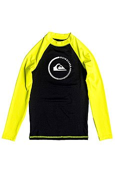 Гидрофутболка детская Quiksilver Lock Up Boy Ls Black/Safety Yellow