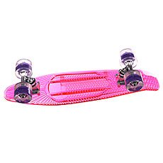 Скейт мини круизер Sunset Princess Complete Fluorescent Pink Deck Blacklight Ano Wheels 6 x 22 (56 см)