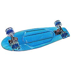 Скейт мини круизер Sunset Wave Complete Blue Deck Blue Ano Wheels 6 x 22 (55.9 см)