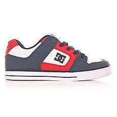 Кеды низкие детские DC Pure B Black/Red/White