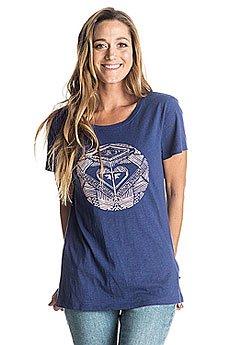 Футболка женская Roxy Crewdancingon Blue Print