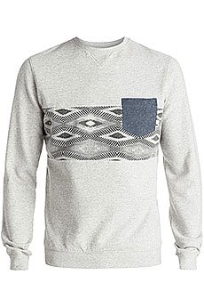 Толстовка свитшот Quiksilver Strangenightcre Otlr Sgrh Light Grey