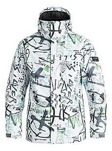 Куртка утепленная Quiksilver Mission Print Hieline White