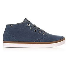 Кеды высокие Quiksilver Shorebrksuedmid Shoe Blue/Blue/White