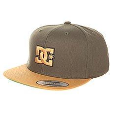 Бейсболка с прямым козырьком DC Shoes Snappy Hats Dark Olive