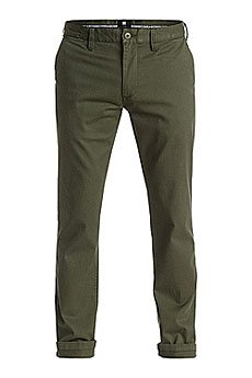 Штаны узкие DC Wrk Slm Chno 32 Fatigue Green