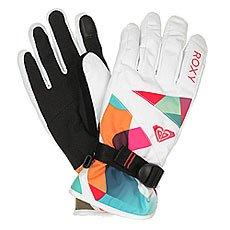 Перчатки сноубордические женские Roxy Jetty Gloves Milo Typo Bright Whi